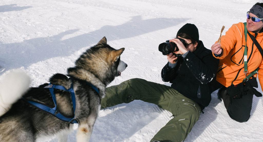Sandro in the snow...