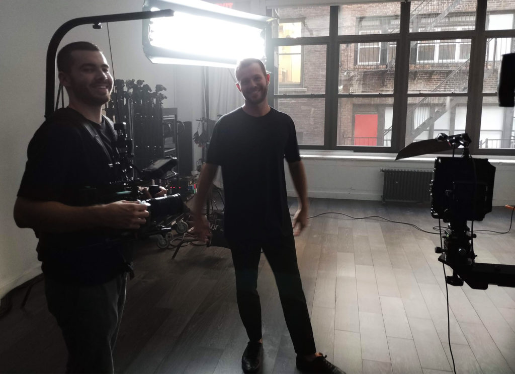 Dean West in the studio, NYC...
