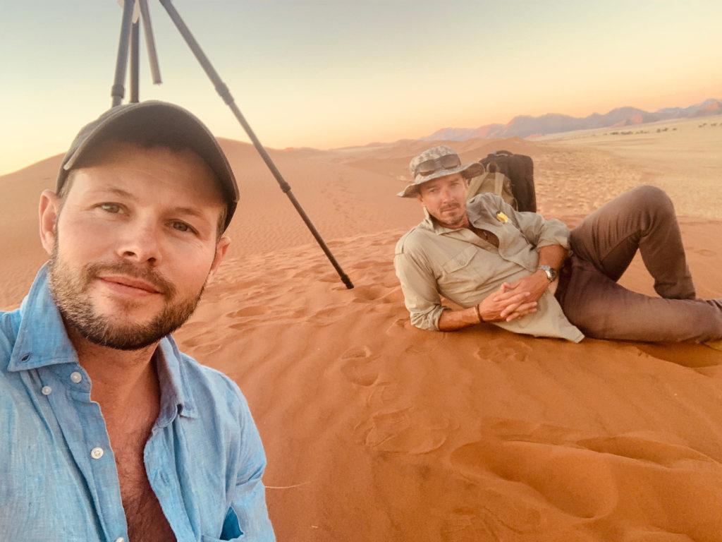 Dean West in the desert...