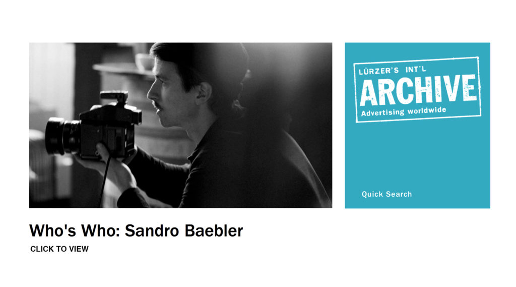 Who's Who... with Sandro Baebler