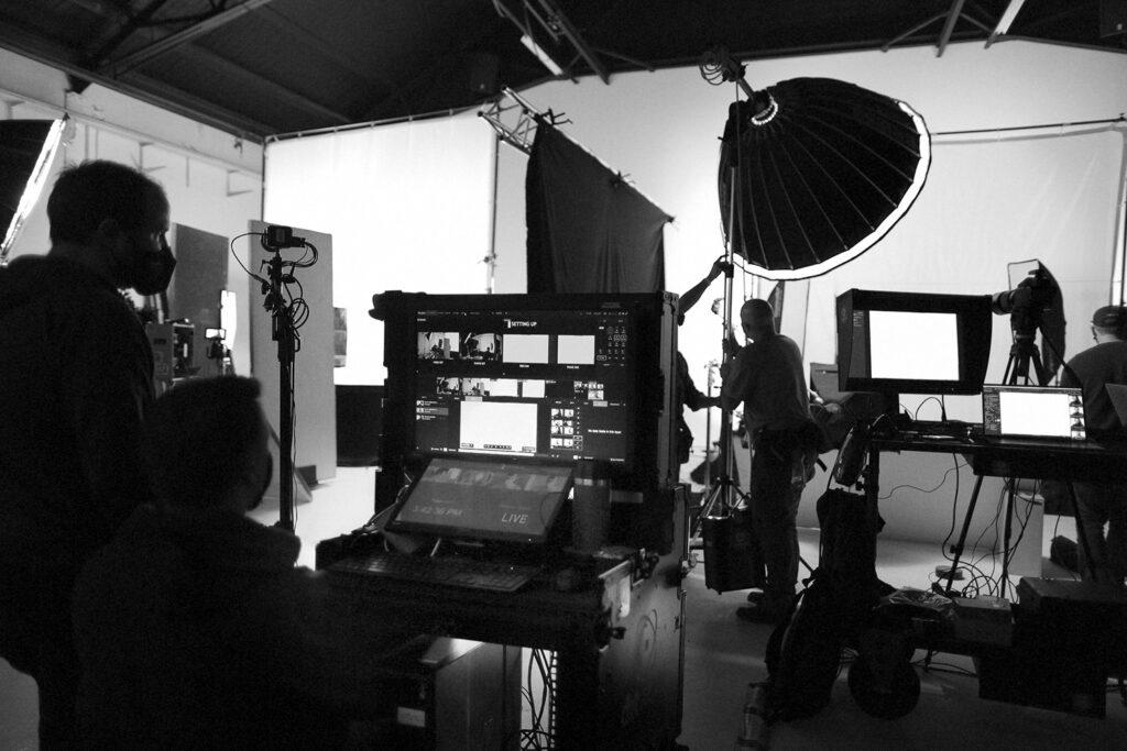 Sandro Baebler on set...