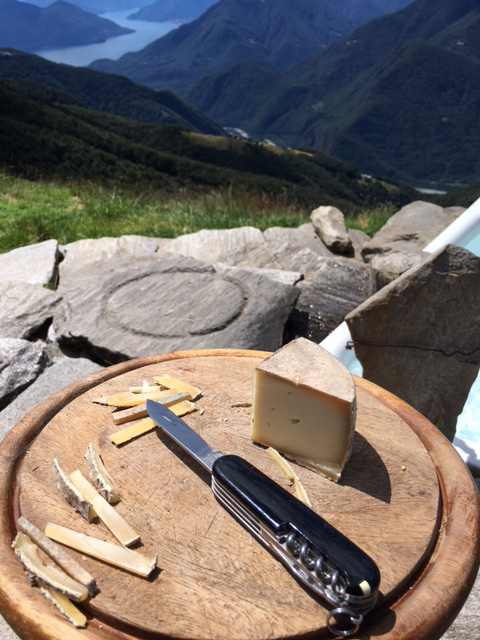 The cheese, the knife, the mountains...